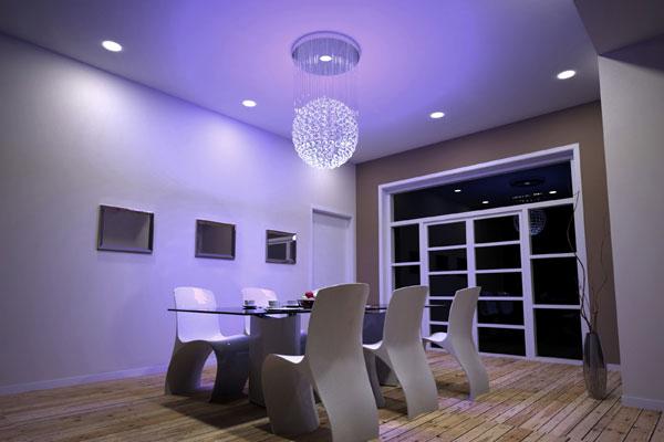 conseils pratiques en clairage pour votre salon espace zen. Black Bedroom Furniture Sets. Home Design Ideas