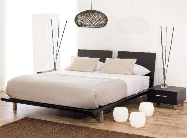 décoration-chambre-à-coucher-naturel-blanc-et-bois