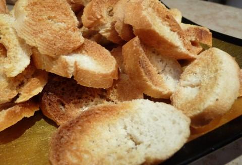Petits pains grillés au four
