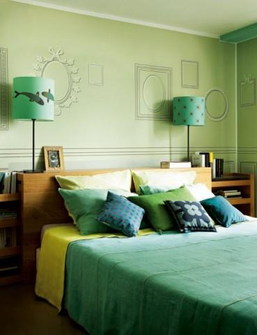Chambre coucher quelle couleur facilite le sommeil espace zen - Chambre verte zen ...
