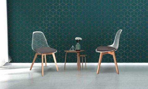 2 chaises scandinaves transparentes