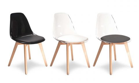 3 nuances de chaises scandinaves transparentes