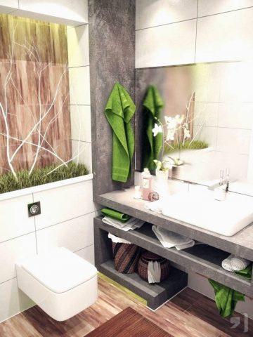 salle de bains avec une déco zen